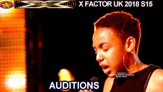 Acacia K 15 year old First Song  Try  & Raps  AUDITIONS week 2 X Factor UK 2018