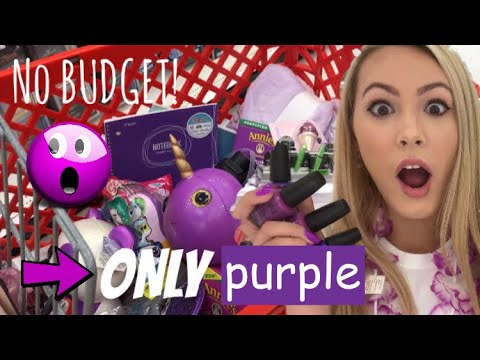 NO BUDGET PURPLE ONLY SHOPPING SPREE 💜