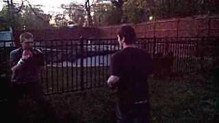 Back yard Boxing Dom Cambareri vs. D.T.