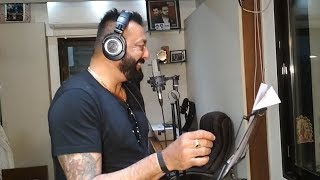 Sanjay Dutt Live Recording Special Song For BHOOMI
