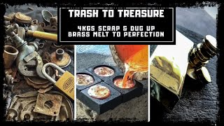 Trash To Treasure - Dug up Metals & Scrap Turned into Huge 3 Kilo Bar & Coins