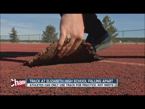 Track at Elizabeth High School falling apart