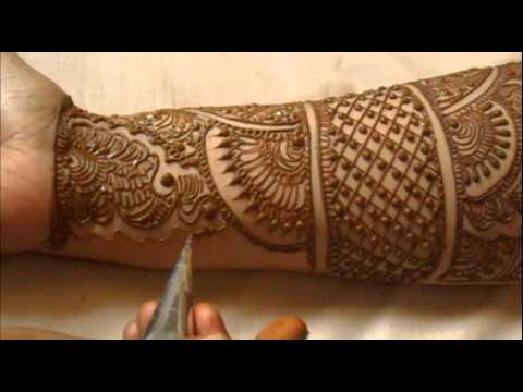 Full Hand Indian Mehndi Design:How To Do Bridal Henna Mehendi Art
