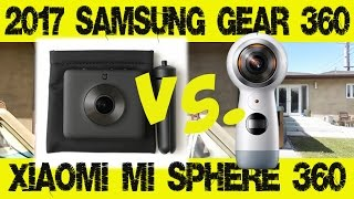Comparison review: Xiaomi Mijia Mi Sphere 3.5K panoramic 360 camera vs. 2017 Samsung Gear 360