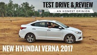 NEW HYUNDAI VERNA 2017 HONEST REVIEW, TEST DRIVE, PRICE