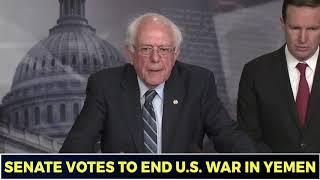 Bernie Sanders: Bipartisan Senate Vote Against Yemen War Is