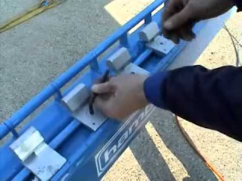 Hydrauliczna giętarka do prętów zbrojeniowych mat zbrojarskich firmy Hambi