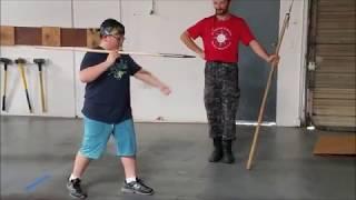 spear throwing at the Davenriche European Martial Artes School Knight's Camp 2017