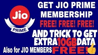 FREE PRIME MEMBERSHIP AND TRICK TO 10GB EXTRA DATA [EXPLAINED] WATCH NOW