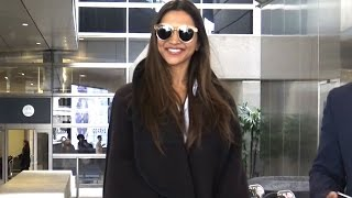 Indian Actress Deepika Padukone Looking Lovely Arriving In L.A.