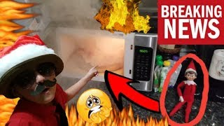 ELF ON THE SHELF TRIES TO BURN DOWN OUR HOUSE!! CAUGHT ON CAMERA! WHY DID I TOUCH ELF ON A POKEBALL?