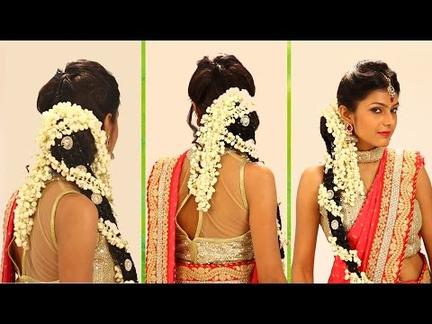 Xxx Mp4 Indian Bridal HairStyle Step By Step South Indian Bridal Hair Style For Wedding Reception 3gp Sex