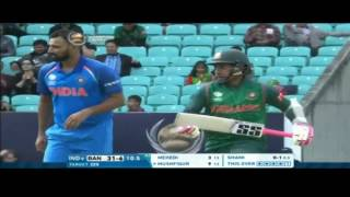 Bangladesh innings highlights and fall of wickets vs India CT17 30/5/17