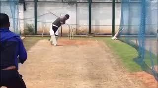 indian cricketer Suresh Raina net practise video and shot six