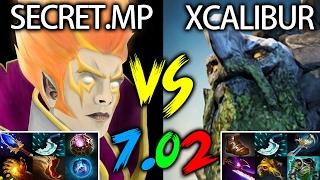 7.02 Invoker Exort Style MP vs Xcalibur Tiny 702 META Dota 2