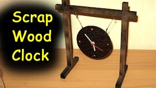 Scrap Wood Plywood Clock - Woodworking --- old video