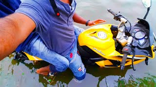 I ALMOST DROWNED WITH MY BIKE😳!!!