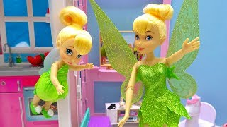 Disney Tinkerbell Doll with Fairy Baby Flutter Wings Disney Princess Doll Surprise