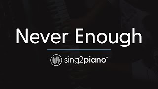 Never Enough (Piano Instrumental) originally by The Greatest Showman
