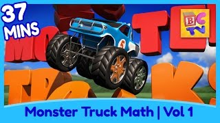 Learn Math and Counting Monster Trucks for Kids | Compilation Vol 1