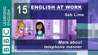 Talking on the phone – 15 – English at Work has the top tips for you