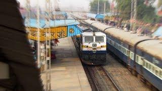 2 High Speed OVERTAKES of TOOFAN Express    BAGMATI Express & VIKRAMSHILA Express !!