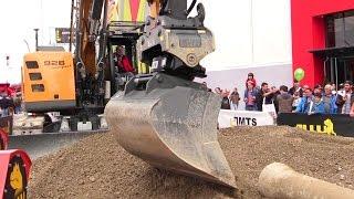 MTS Tiltrotator On A Liebherr R926 Compact Excavator Demo @ Bauma 2016