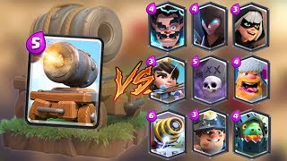 Cannon Cart vs All Cards in Clash Royale | Cannon Cart Gameplay