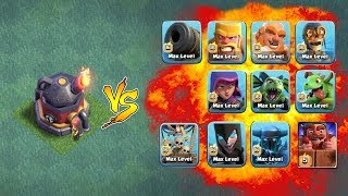 All Troops Vs Max Roaster | Clash Of Clans New Update | Not ( COC PRIVATE SERVER )