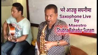 Bhare aauchhu sapanima on saxophone
