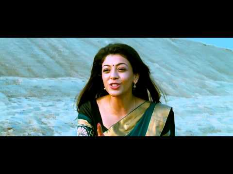 Kajal Hot Navel Show From Veera 4
