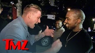 Kanye West Discovers the Next Big Rapper On the Street! Feat. Justin Bieber | TMZ