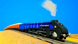 LEGO TRAIN VS TRAIN CRASH! - Brick Rigs