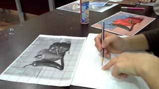 Kareleme yöntemi ile çizim yapabilmek