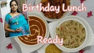 Birthday Lunch Combo/4 Special  Dishes/potato gravy/baby corn manjurian/peas pulao/rava kesari