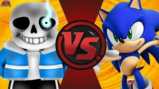 SANS vs SONIC! (Undertale vs Sonic The Hedgehog) Cartoon Fight Club BONUS Episode!