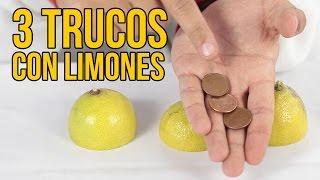 3 INCREÍBLES TRUCOS con limones (Experimentos Caseros)