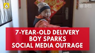 Chinese 7-year-old delivery boy sparks controversy