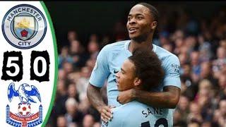 Manchester City 5 x 0 Cristal Palace - Melhores Momentos - Campeonato Inglês 23/09/2017
