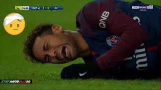 Neymar Jr ⚽ Injury + Marseille Shameful Defenders Hunting on Neymar ⚽ 2018 | HD  1080i #Neymar