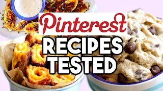 PINTEREST FOOD RECIPES TESTED! Eggless Cookie Dough, Loaded Potato Wedges, Grilled Cheese Rollups!