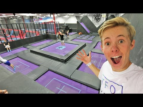 SURPRISING A FAN WITH TRAMPOLINES