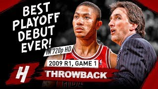 20 Yr-OLD Derrick Rose GREATEST Playoff DEBUT EVER! Full Game 1 Highlights vs Celtics 2009 - 36 Pts!
