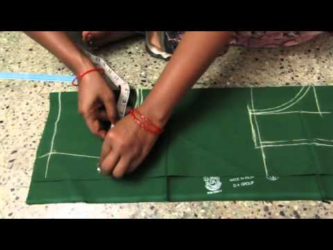 Blouse cutting with measurements in telugu
