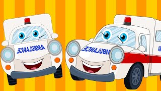 Happy and Sweety |Ambulance Song |Car Songs And Rhymes | Vehicle Songs