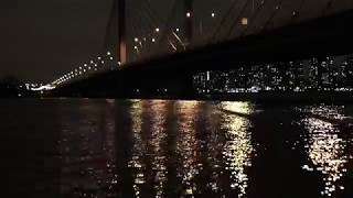 Bridge Night City Lights Water Reflection Ripples No Copyright Video