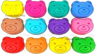 Learn Colors Play Doh Teddy Bear Disney Pixar Cars Paw Patrol Peppa Pig ELMO Mickey Surprise Toys