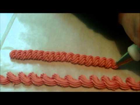 3 bordes para decorar pasteles 2 de cuerda y el del gusanito