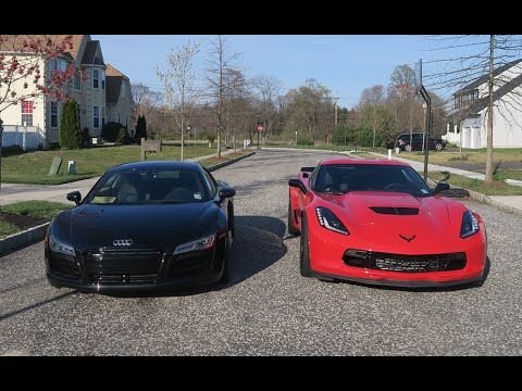 AUDI R8 Vs Z06 C7 WHICH IS FASTER SUPERCARS