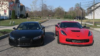 AUDI R8 Vs Z06 C7 - WHICH IS FASTER?!? - SUPERCARS
